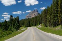 Montaña del castillo en el parque nacional de Banff Imagen de archivo libre de regalías