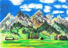 Montaña del drenaje de la mano Imagen de archivo libre de regalías
