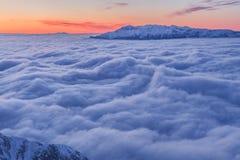 Montaña del invierno foto de archivo