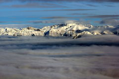 Montaña del invierno Imagenes de archivo