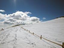 Montaña del invierno Imagen de archivo libre de regalías