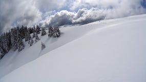 Montaña del invierno Fotos de archivo
