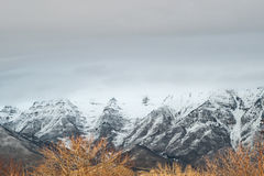 Montaña del invierno Imagen de archivo
