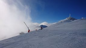 Montaña del invierno Imágenes de archivo libres de regalías