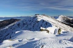 Montaña del invierno en Eslovaquia, Tatras bajo Foto de archivo libre de regalías