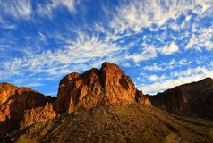 Montaña del lago Saguaro Fotos de archivo