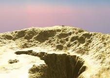 Montaña del oro Foto de archivo libre de regalías