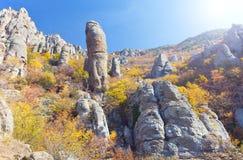 Montaña del otoño Imagen de archivo libre de regalías