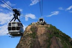 Montaña del pan de azúcar de Rio de Janeiro Imágenes de archivo libres de regalías