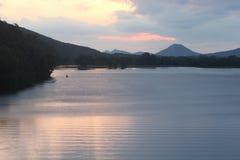Montaña del pináculo a partir del puente del parque de dos ríos Fotos de archivo libres de regalías
