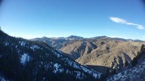 Montaña del puesto de observación en invierno Fotos de archivo