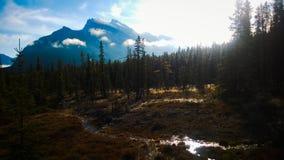 Montaña del rundle de Moring Fotos de archivo