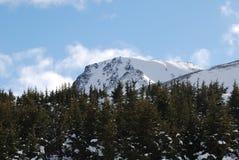 Montaña del top plano Fotografía de archivo
