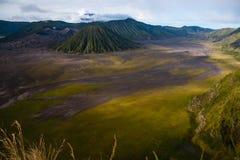 Montaña del volcán de Bromo Foto de archivo