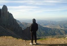 Montaña - Djurdjura - ARGELIA Fotografía de archivo