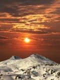 Montaña Elbrus. Fotografía de archivo