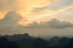 Montaña en Bac Son Imagen de archivo libre de regalías