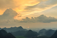 Montaña en Bac Son Fotografía de archivo libre de regalías