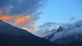 Montaña en el fuego Fotografía de archivo