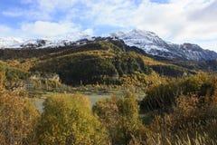 Montaña en el valle de Tena, los Pirineos Fotos de archivo libres de regalías