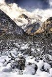 Montaña en HDR, Belluno, Italia, Europa de Dolomiti Fotos de archivo libres de regalías