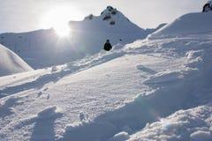 Montaña en invierno Foto de archivo libre de regalías