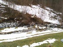 Montaña en invierno Imagen de archivo