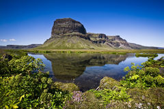 Montaña en Islandia Fotografía de archivo libre de regalías