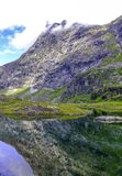 Montaña en Noruega Imagen de archivo libre de regalías