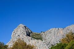 Montaña en Omis Imagenes de archivo