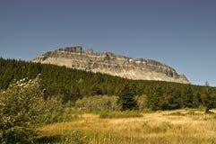 Montaña en parque nacional de glaciar Imagen de archivo libre de regalías