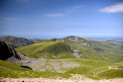 Montaña en Snowdonia Foto de archivo libre de regalías