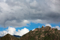 Montaña en Tíbet Foto de archivo libre de regalías