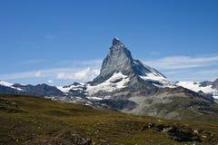 Montaña en Zermatt, Suiza de Matterhorn imagen de archivo libre de regalías