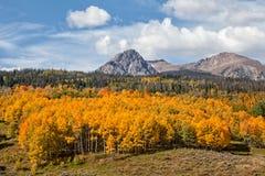 Montaña escénica en otoño Fotos de archivo