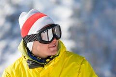Montaña-esquiador Imagen de archivo
