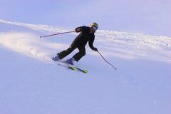 Montaña-esquiador Foto de archivo libre de regalías