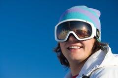 Montaña-esquiador Fotos de archivo