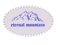 Montaña eterna. stock de ilustración