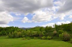Montaña a finales de la primavera Foto de archivo libre de regalías