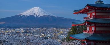 Montaña Fuji imagenes de archivo