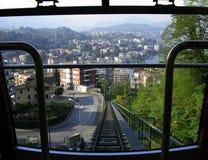 Montaña funicular Imagen de archivo libre de regalías