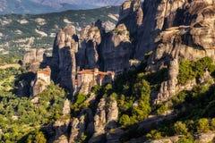 Montaña Grecia Europa de la roca de Meteora Imagenes de archivo