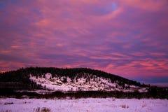 Montaña hermosa del invierno fotografía de archivo