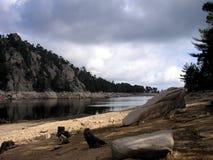 Montaña-lago en Córcega Imagen de archivo
