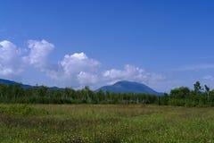 Montaña Ledyanaya (Sajalín McKinley) en agosto imagen de archivo libre de regalías