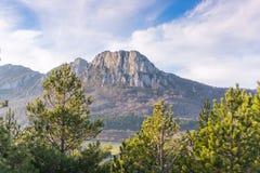 Montaña Leon Dormido Foto de archivo