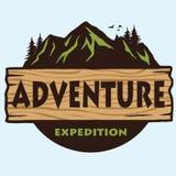 Montaña Logo Template Vector que acampa de la aventura ilustración del vector
