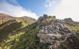 Montaña Lopatina Imagenes de archivo