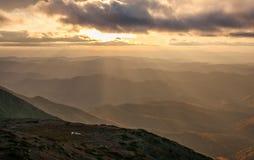 Montaña Lopatina foto de archivo